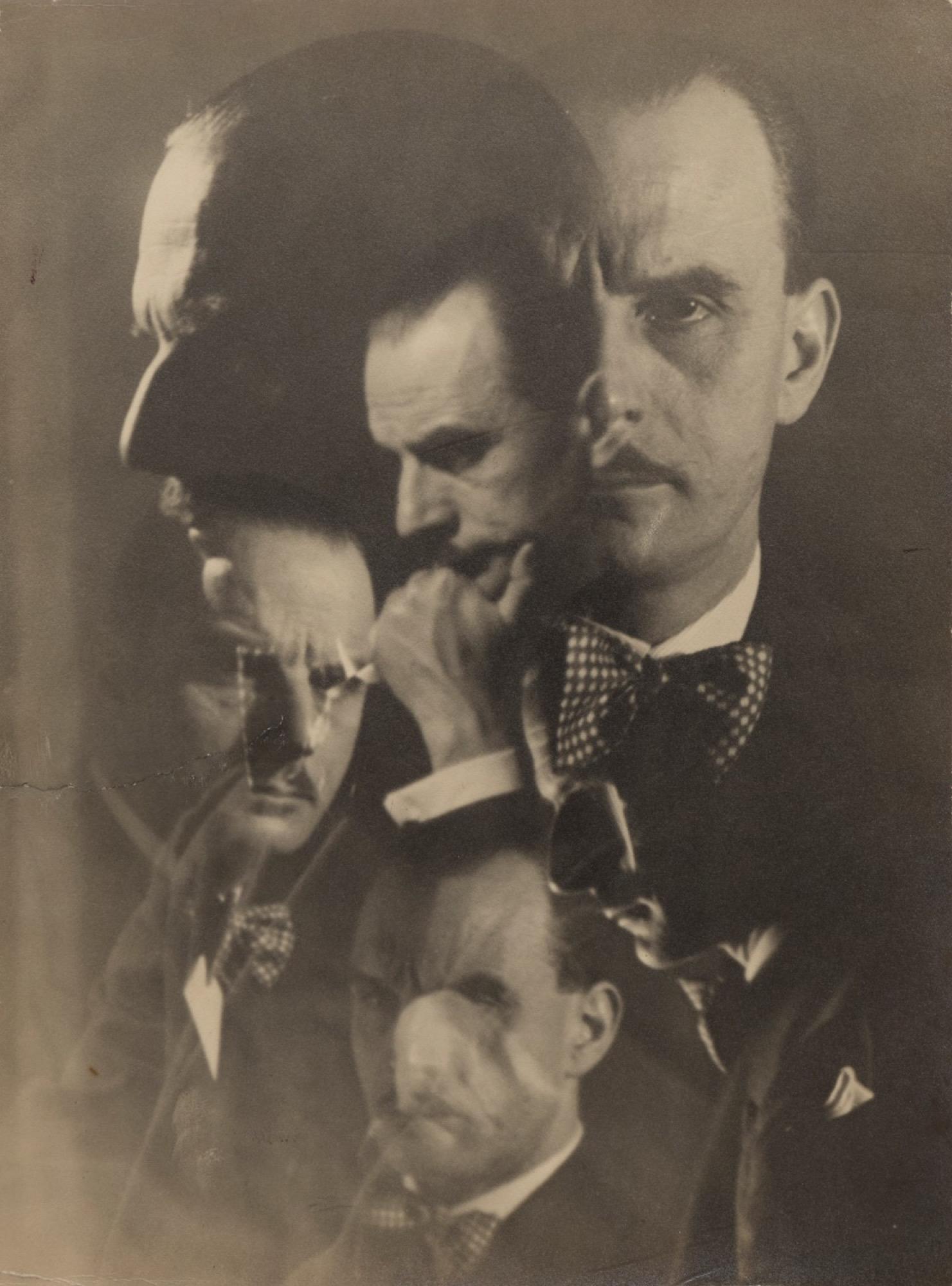 Anonimo - Sergio Tofano, photomontage, years 1930 - Vintage gelatin silver print - [...]