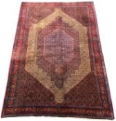 Fine Persian Senneh rug, profusely decorated with Herati motifs, multiple lozenge fields, stylised