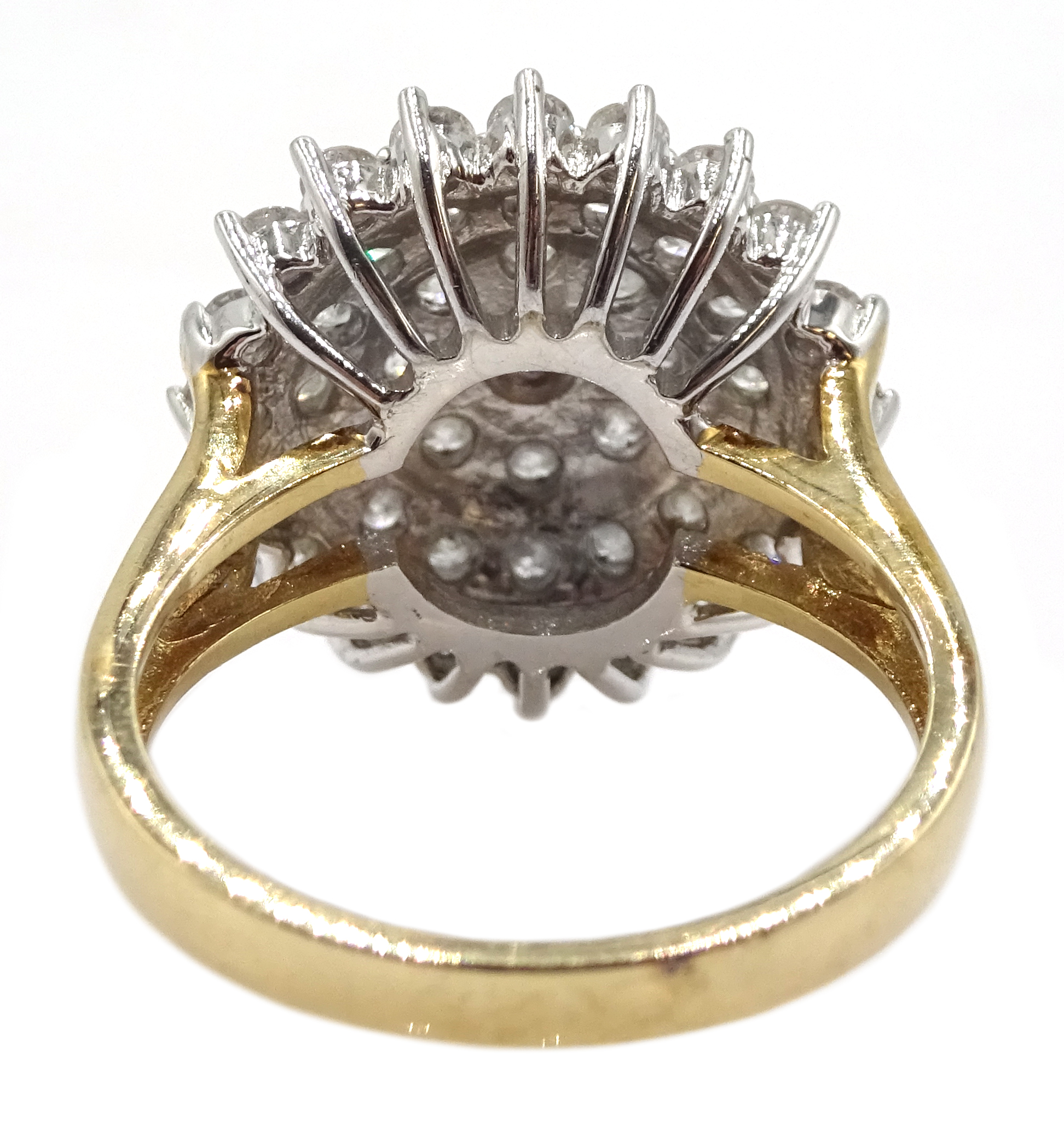 9ct gold cluster ring set with diamonds, diamond total weight approx 2.00 carat, free UK mainland - Image 6 of 6