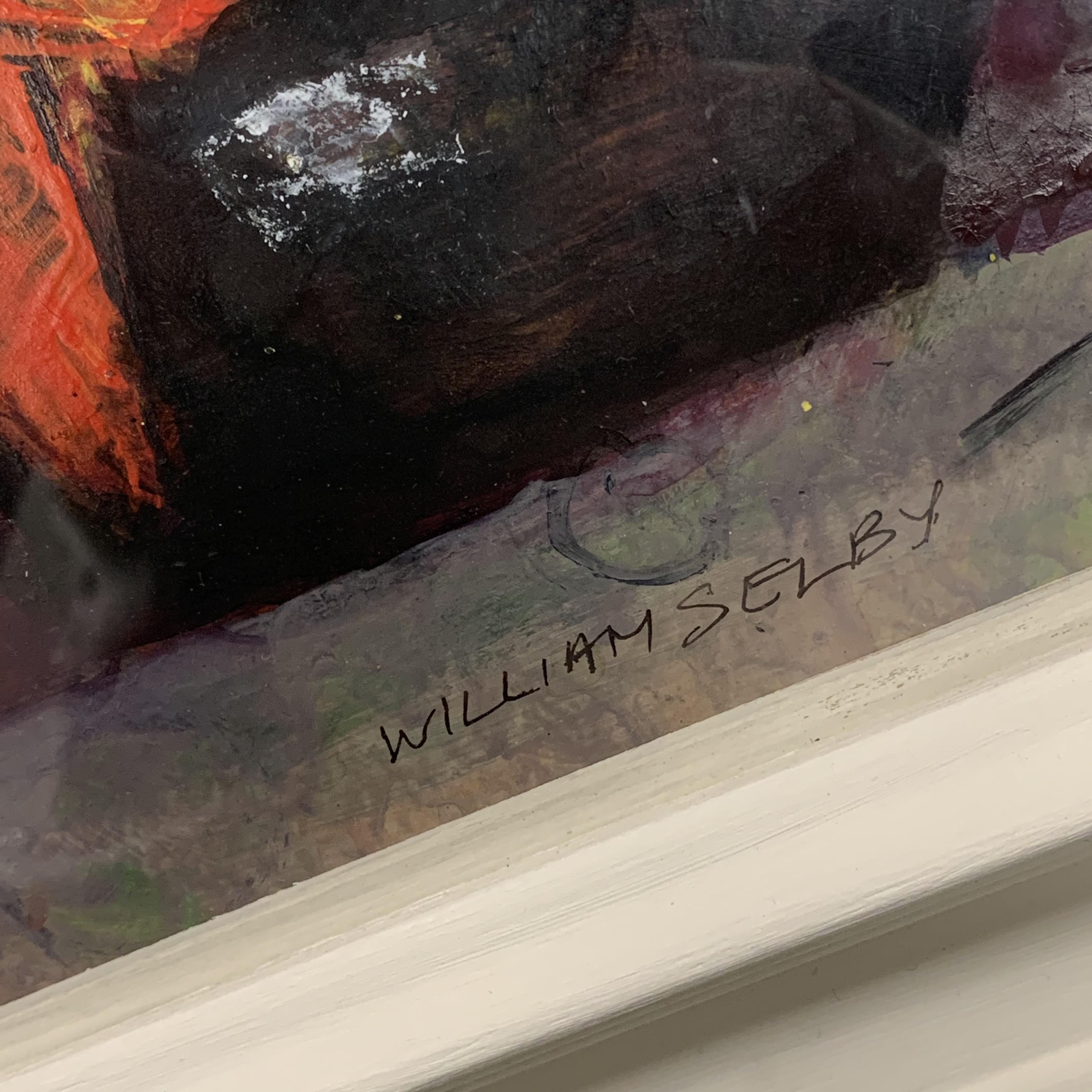 William Selby (British 1933-): Still Life with Black Mug, mixed media signed 18cm x 18cm, UK - Image 3 of 3