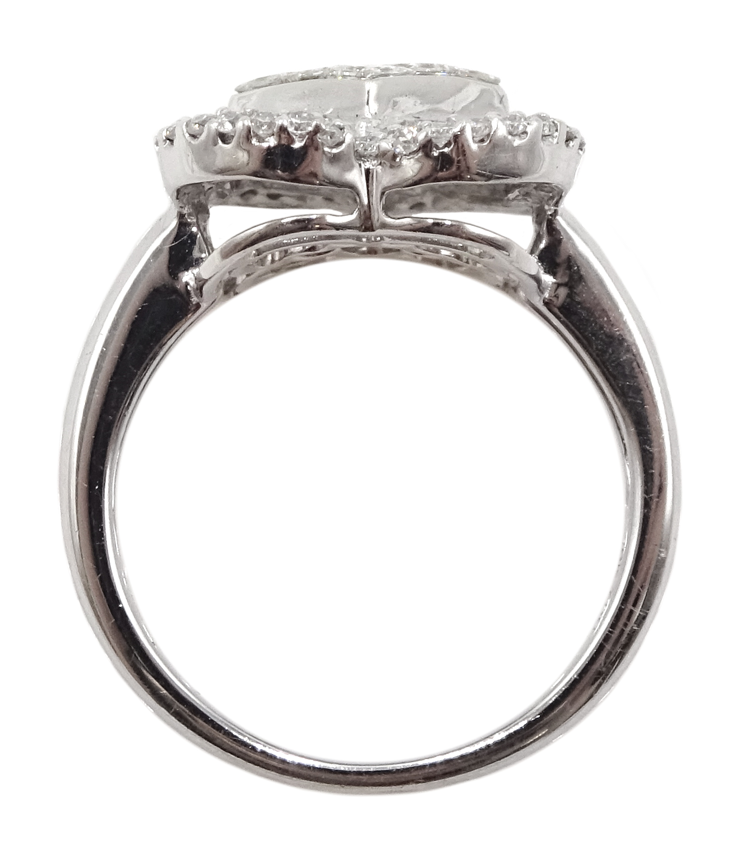 18ct white gold and diamond cluster ring, diamond total weight approx 1.25 carat, free UK mainland - Image 5 of 6