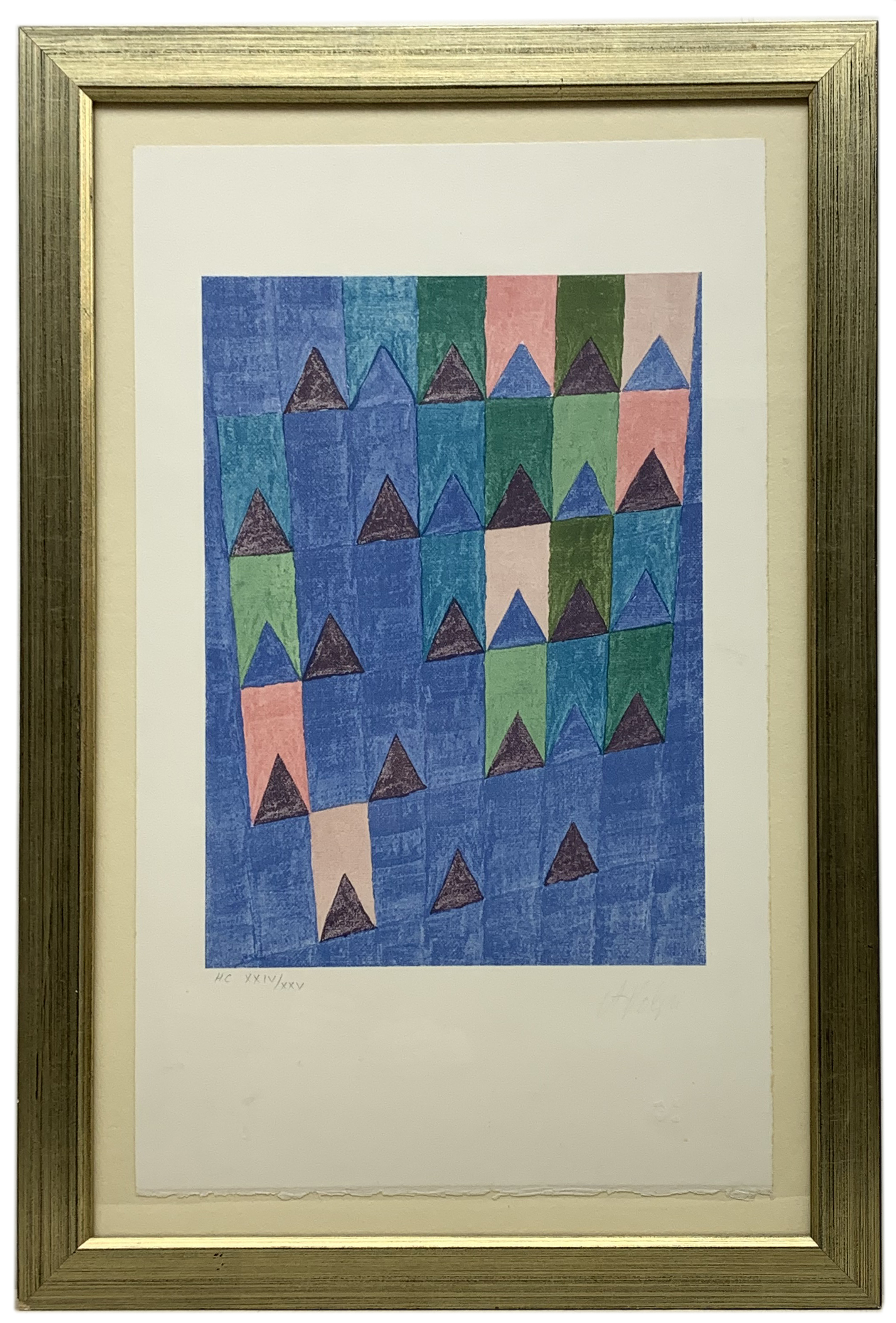 Alfredo Volpi (Brazilian 1896-1988): Bandeirinhas, limited edition screenprint signed and numbered - Image 2 of 2