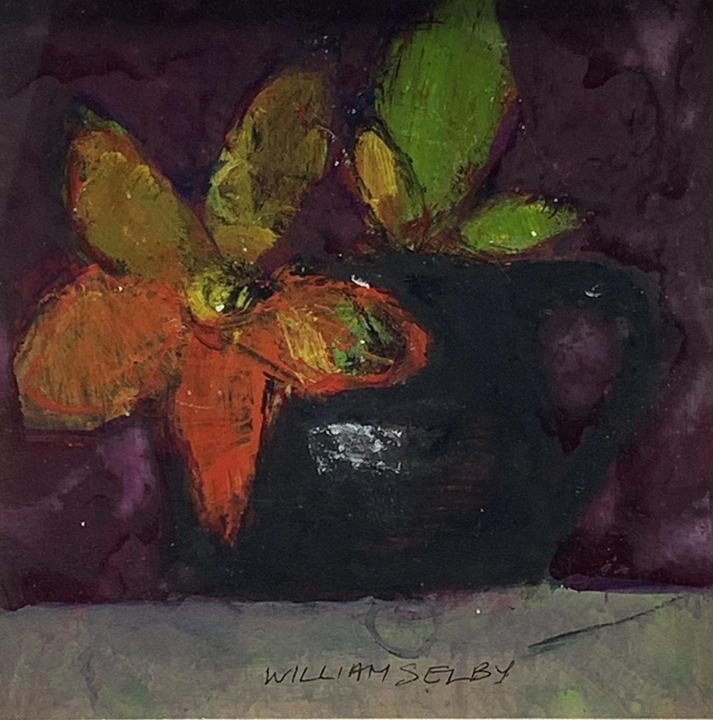 William Selby (British 1933-): Still Life with Black Mug, mixed media signed 18cm x 18cm, UK