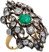 Diamantring mit Smaragd