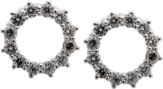 Ohrsteckerpaar mit Brillanten