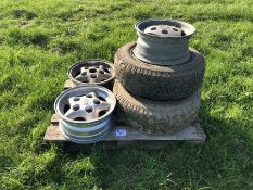 5 x Land Rover Alloy Wheel and 2 x Tyre