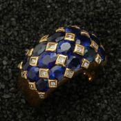 DIAMANT-SAPHIR-RING, DAVID MORRIS