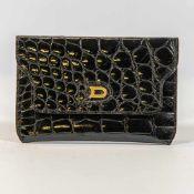 Black wallet, Aligator Leather, Delvaux, België Length: 14 cm , Width: 9 cm, Hight: 0 cm,