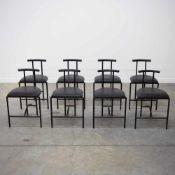 Rodney KINDSMANRodney Kindsman, Set of 8 'Tokyo' chairs, for Bieffeplast, Italy, 1980's. Length: