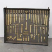 Industrial French working cabinet. 1950's. Length: 0 cm , Width: 156 cm, Hight: 126 cm, Diameter: