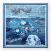 DEBROCK 1982DEBROCK, Modern painting, Oil/panel, 1982. Length: 0 cm , Width: 90 cm, Hight: 90 cm,