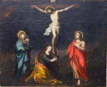 Unsigned, Golgotha, Oil/canvas, late 17th, early 18th C. Length: 0 cm , Width: 163 cm, Hight: 134