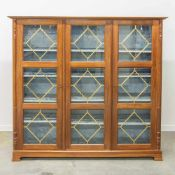 Library cabinet with glass doors. 1960-1970 Length: 177 cm , Width: 51 cm, Hight: 190 cm,