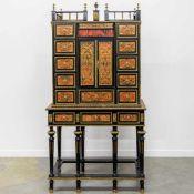1970's made Boulle cabinet. Length: 95 cm , Width: 48 cm, Hight: 181 cm, Diameter: 0 cm