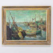 Leon DIEPERINCK (1917-?)Leon DIEPERINCK (1917-?), Harbor vieuw, Oil/canvas. Length: 0 cm , Width: