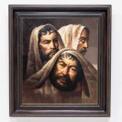 Aimé VAN BELLEGHEM (1922-1996)Aimé VAN BELLEGHEM (1922-1996), 3 caracters, Oil/canvas Length: 0 cm ,