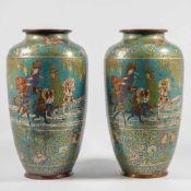 Pair of CloisonnÈ vases, Japanse origin
