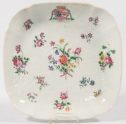 Plate in the style of export porcelain.