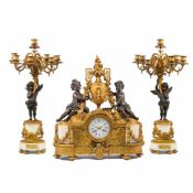 Clockset with putti