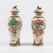 Paar chinese Vazen Nanking