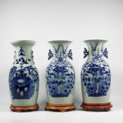 Set of 3 chinese vases