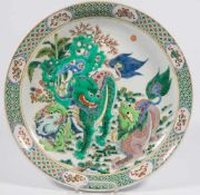 Display plate Wucai with dragons