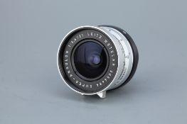 A Leitz Super-Angulon f/3.4 21mm Lens,
