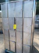 1 x unitech s/s lockers