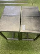 2 X S/S TABLES.