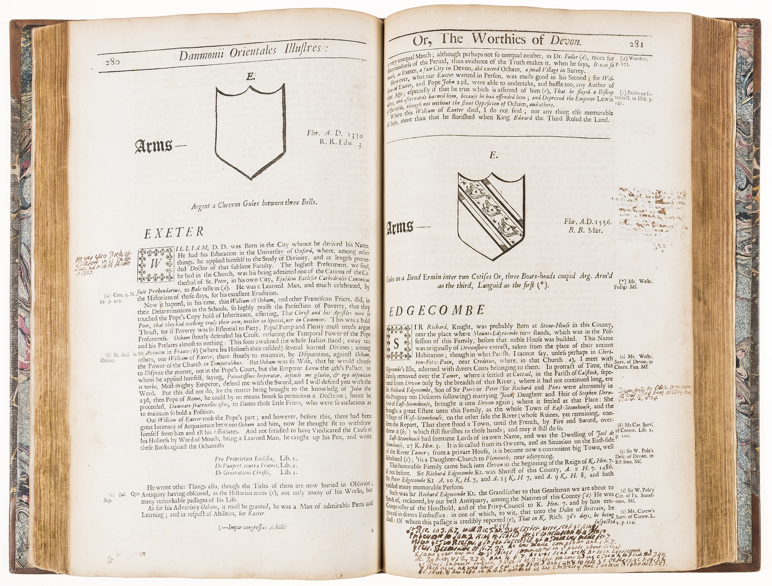 Lot 10 - Devon.- Prince (John) Danmonii Orientales Illustres: or, the Worthies of Devon, first edition, …