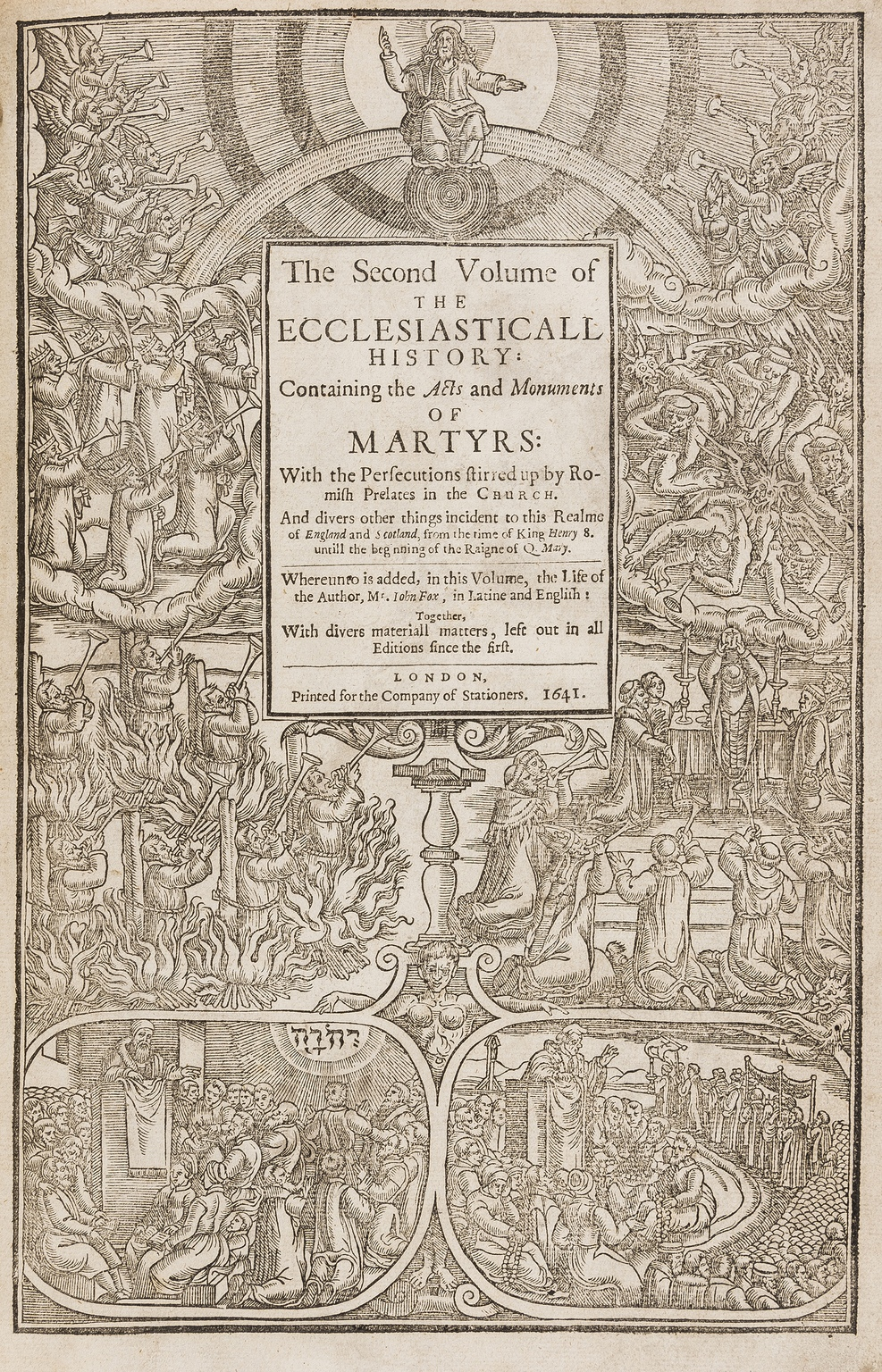 Lot 123 - Foxe (John) [Book of Martyrs] Acts and monuments of matters most speciall and memorable, happening …