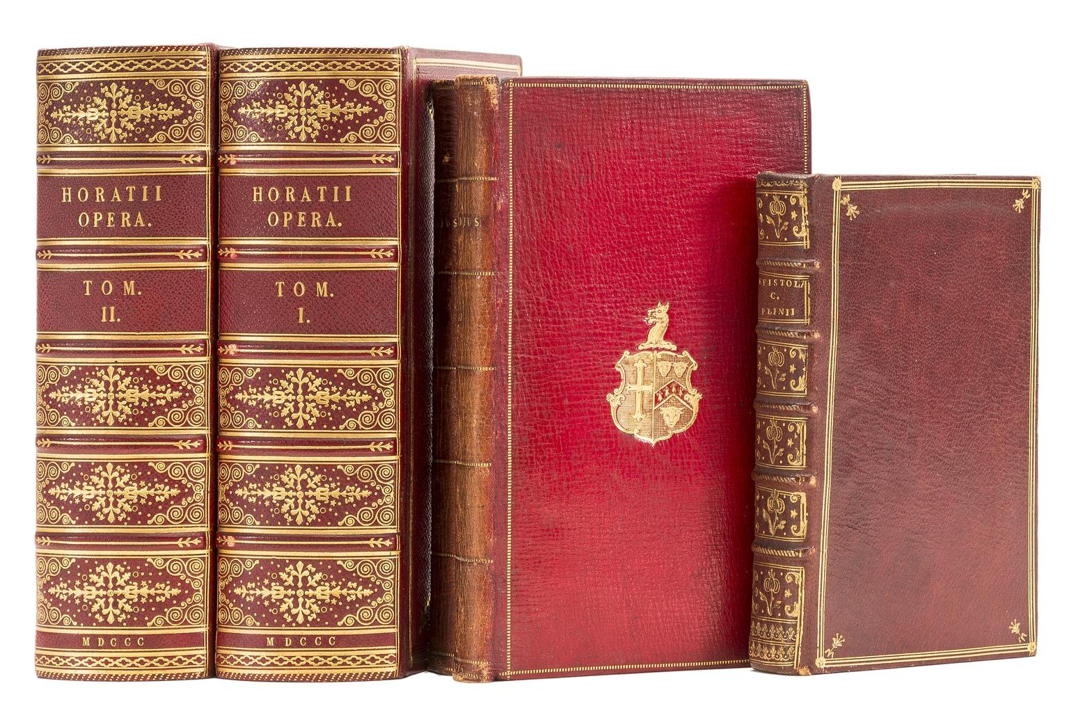 Lot 97 - Bindings.- Latin Classics.- Plinius Secundus (Gaius) Epistolæ et Panegyricus, Paris, Barbou, 1769; …