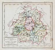France.- [Chanlaire (Pierre-Gregoire) & Dumez.] Atlas National Portatif de la France, 92 maps, …
