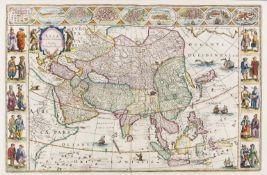 Asia.- Blaeu (Willem Jansz.) Asia Noviter Delineata, [c. 1643].
