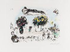 Marc Chagall (1887-1985) Le Peintre Aux Trois Bouquets (Mourlot 998)