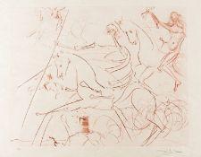 Salvador Dali (1904-1989) Apocalyptische Reiter (Field 74-18; M&L 722c)