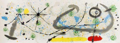 Joan Miro (1893-1983) From Le Lézard aux plumes d'or (Mourlot 452)