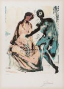 Salvador Dali (1904-1989) Anthony and Cleopatra. From Les Amoureux (M & L 1568g; Field 80-2)