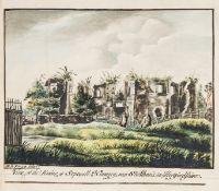 Dugdale (Sir William) Monasticon Anglicanum, 3 parts in 1, extra-illustrated with original …