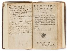 Dagonneau (Jean) Legende de Domp Claude de Guyse, abbe de Cluny, no place, no printer, 1581; and …