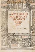Gellius (Aulus) Noctium atticarum libri XIX, Basel, [Andreas Cratander for Ludwig Hornken], 1519 …