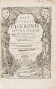 Cicero (Marcus Tullius) Opera omnia quae exstant, edited by Denis Lambin, 4 vol. in 2, Paris, …