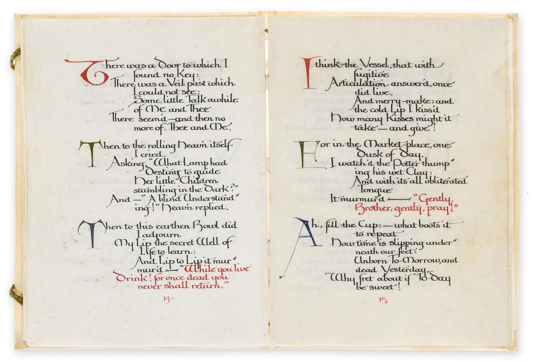 Calligraphic manuscript.- Omar Khayyam. Rubaiyat, illuminated calligraphic manuscript by Alberto … - Image 6 of 6