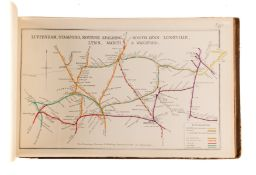 Airey (John) Railway Junction Diagrams. Complete Work, including supplements, hand-coloured maps, …