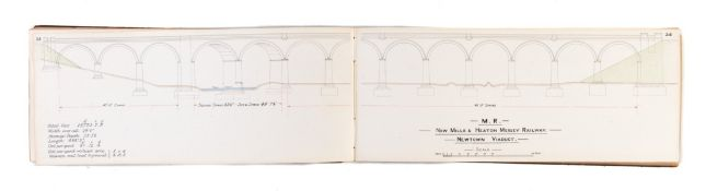 Lowe (J.Landor) Viaducts and Tunnels on the Midland Railway, manuscript with technical drawings, …