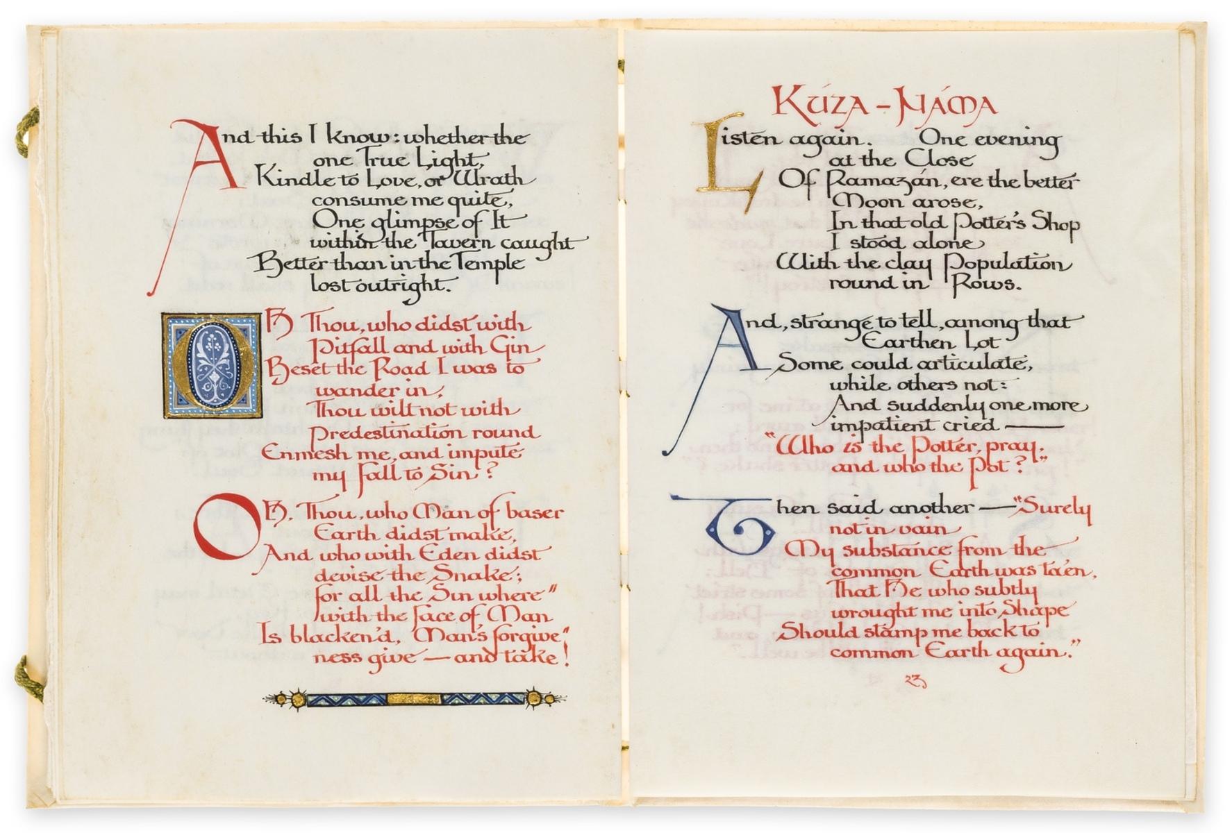 Calligraphic manuscript.- Omar Khayyam. Rubaiyat, illuminated calligraphic manuscript by Alberto … - Image 4 of 6
