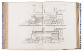 Colburn (Zerah) Locomotive Engineering and the Mechanism of Railways, 2 vol., London & Glasgow, …