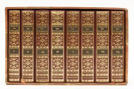 [Grimod De La Reyniere (Alexandre Balthazar Laurent)] Almanach des Gourmands, 8 vol., limited …