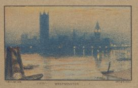 London.- Way (Thomas R.) The Thames at Eventide, signed limited edition, 1907.