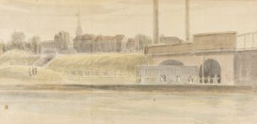 River Lea.- Greater London.- Thatcher (W.) Seven views of the River Lea, watercolours, c.1923-1924